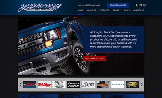 scorpion truck website