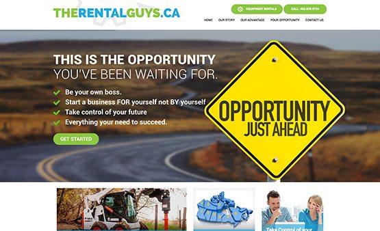 therentalguys.ca franchise website