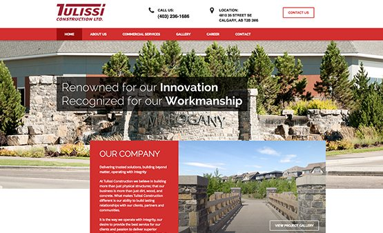tulissi construction website